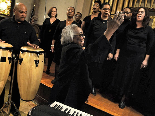 The Syracuse Chapter of the Gospel Music Workshop of America Choir